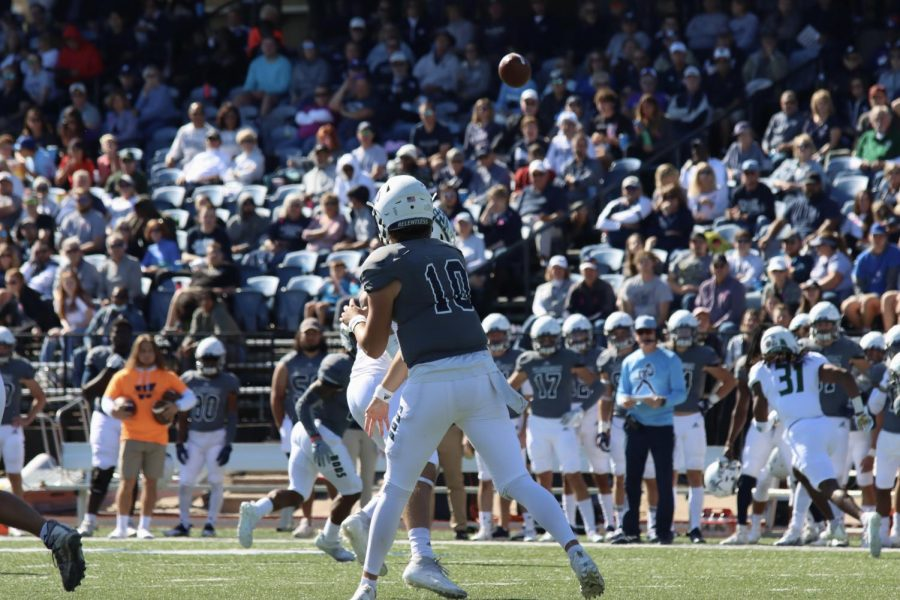 Throw it up: Washburn quarterback Kellen Simoncic passes the ball on Oct. 16, 2021. Simoncic finished with two touchdown passes in the game.